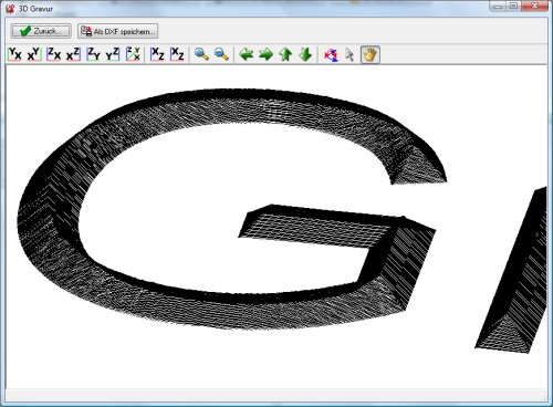 Font 2 DXF and G-Code Screenshot