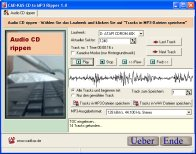 Screenshot vom Programm: CD to MP3 Ripper