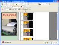 MPEG AVI DVD Daumenkino-Drucker
