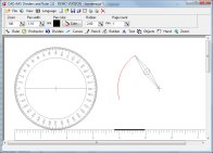 Draw with dividers, ruler, protractor, pencil