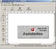 Screenshot vom Programm: Etiketten-Designer