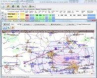 Screenshot vom Programm: VFR Flugplanung