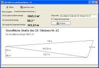 Screenshot vom Programm: Grundstücksfläche