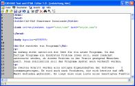 Screenshot vom Programm: Text und HTML-Editor