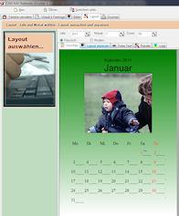 Screenshot vom Programm: Kalender-Drucker