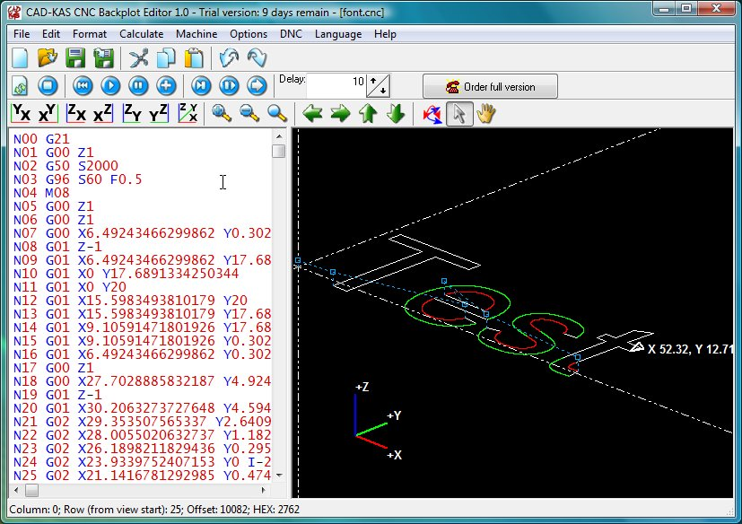 Cnc backplot editor for 3d editor online