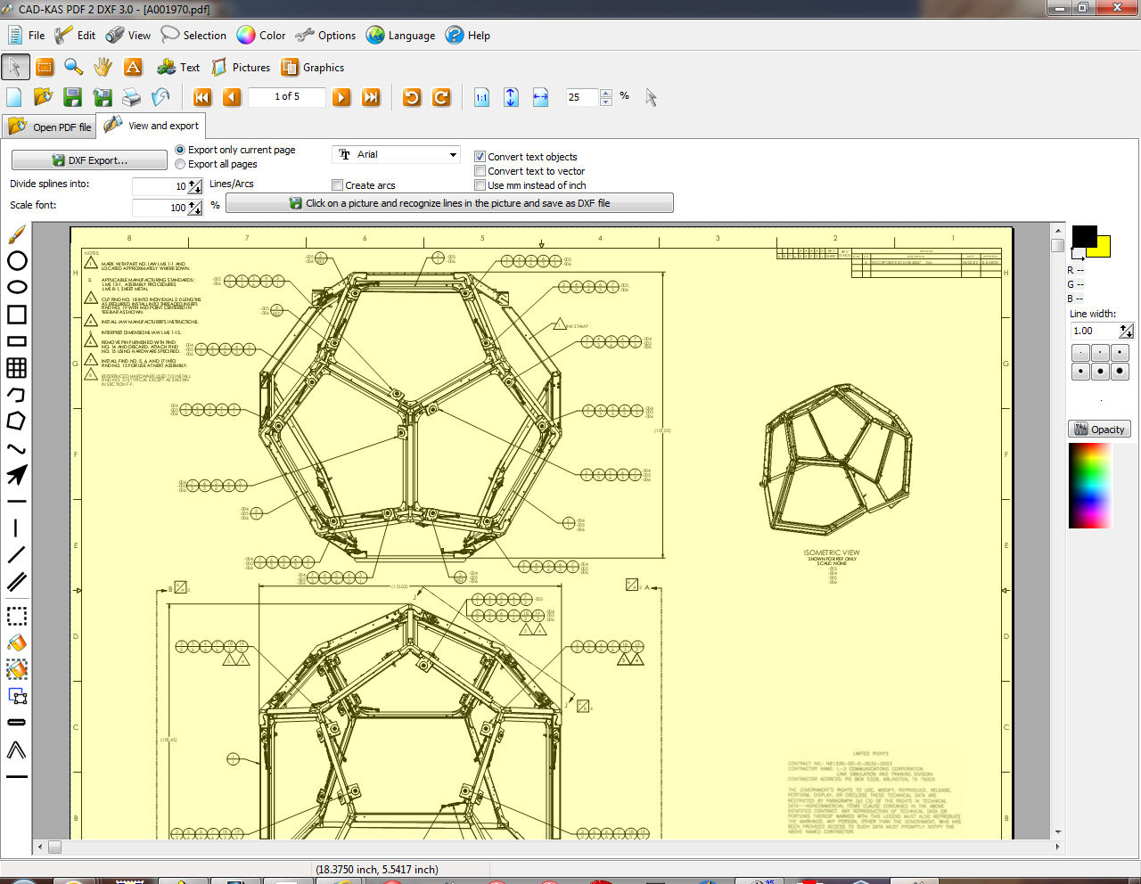 Click to view PDF 2 DXF screenshots