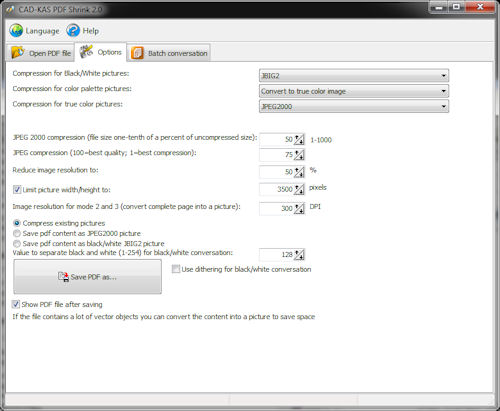 Screenshot for PDF Shrink 2.0