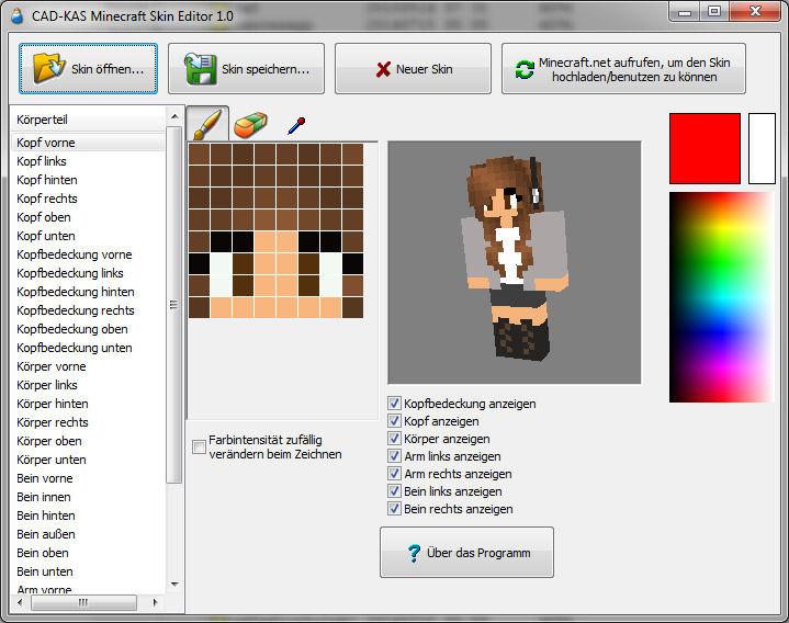 Minecraft Skin Editor - Skins fur minecraft machen