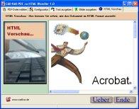 Screenshot vom Programm: PDF zu HTML Wandler