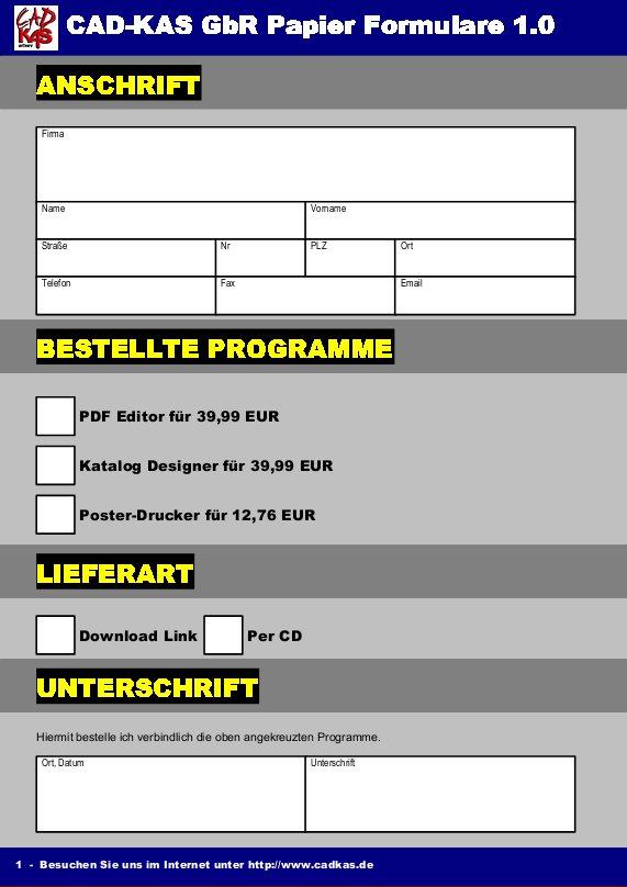 Papier Formular Designer
