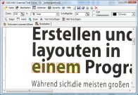 Screenshot vom Programm: Scanned Text Editor