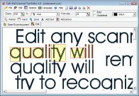 Click to view Scanned Text Editor 1.0 screenshot