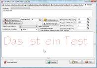 Screenshot vom Programm: Schrift 2 DXF und G-Code