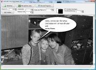 Screenshot vom Programm: Foto Sprechblase