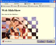 Screenshot vom Programm: Web SlideShow